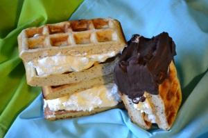 Waffle Ice Cream Sandwiches