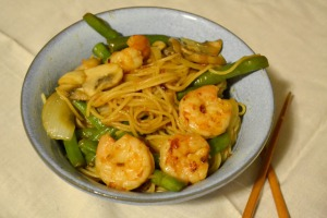 Shrimp Sriracha Stir Fry