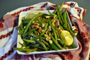 sauteed string beans with lemon and almonds