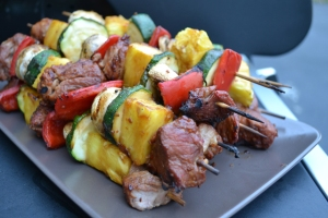 Tropical Pork Pineapple Kebabs