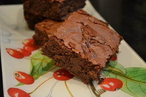 black cherry yogurt brownies