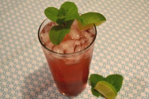 cranberry lime cooler