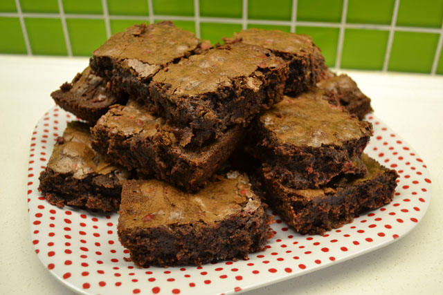 peppermint chip brownies