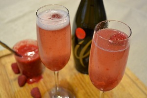 raspberry honey bellini
