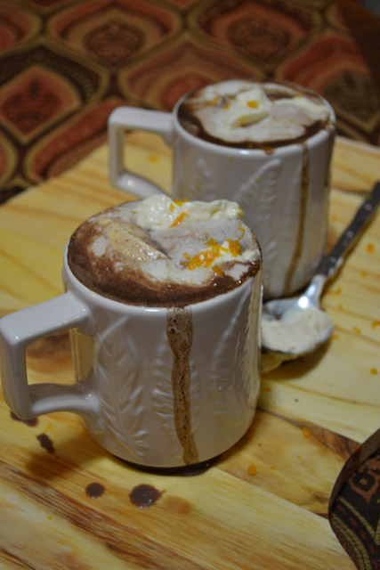 Thursday- Italian Hot Chocolate with Orange Scented Whipped Cream ...