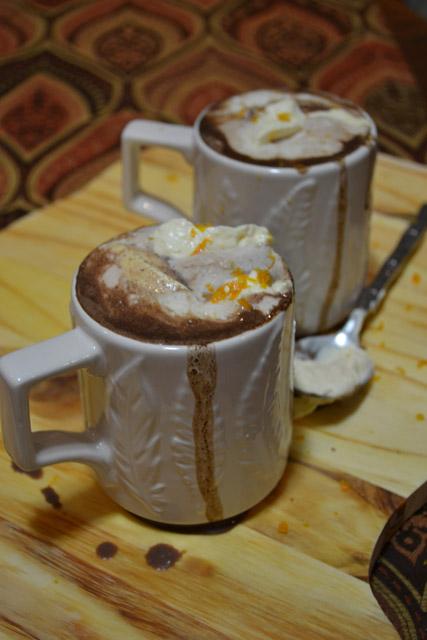 Italian Hot Chocolate with Orange Scented Whipped Cream