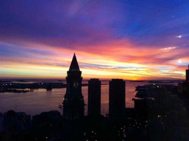 Sunrise in Boston