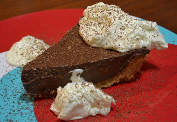 Gone to Heaven Dark Chocolate Pie