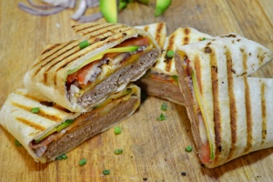 Cali Turkey Burger Quesadillas