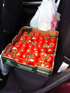 flat of tomatoes