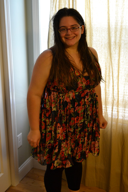 Stitch Fix-Black Sheep- Mily Floral Pleasted Tie-Waist Dress