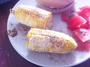 lunch- mexican corn