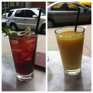 sonsie brunch- his and hers drinks