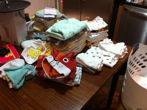 folding baby clothes