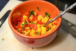 Crispy Tofu Tacos with a Mango Salsa-5