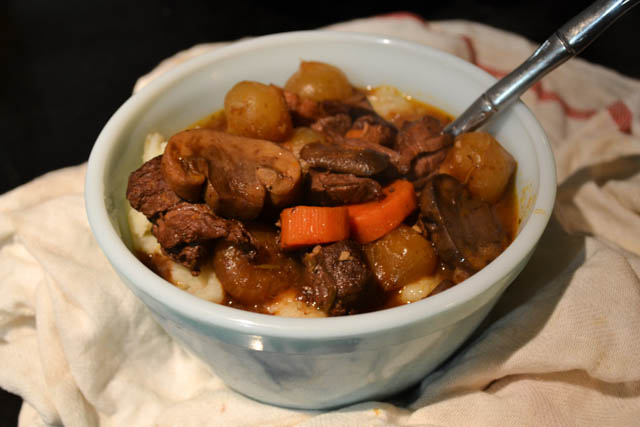 Slow Cooker Beef Burgundy Stew | I am a Honey Bee