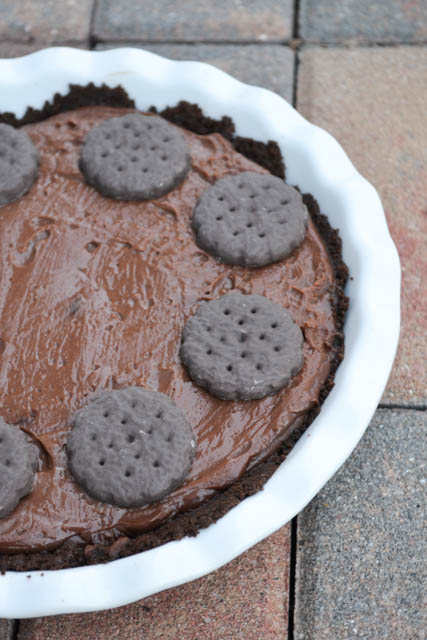 Thin Mint Cookie Chocolate Pie