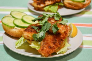 Crispy Asian Fish Sandwiches