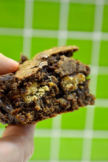 Hidden Samoa Cookie Brownies