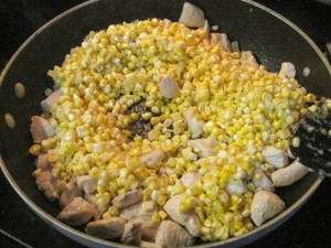 Fusilli with Fresh Corn and Chicken in a Garlic Cream Sauce-07