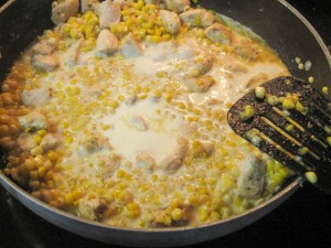Fusilli with Fresh Corn and Chicken in a Garlic Cream Sauce-08