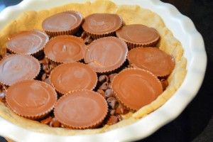 Reese's Cup Marshmallow Peanut Butter Cookie Pie-10