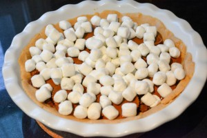 Reese's Cup Marshmallow Peanut Butter Cookie Pie-11