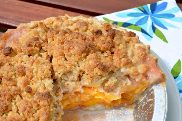 Streusel Topped Peach Pie-2