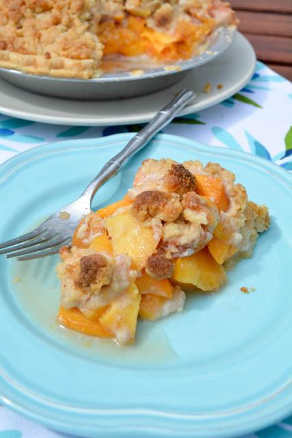 Streusel Topped Peach Pie-3