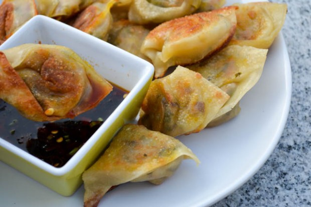 Vegetarian Wontons Spicy Soy Dipping Sauce-5