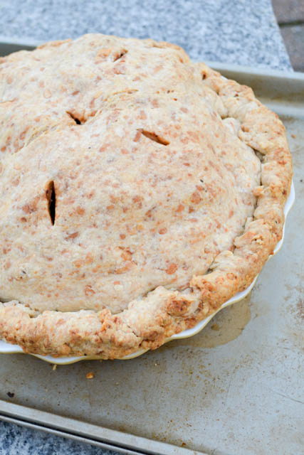 Deep Dish Apple Pie with a Cheddar Rosemary Crust – I am a ...