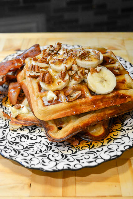 Brown Butter Banana Waffles-1