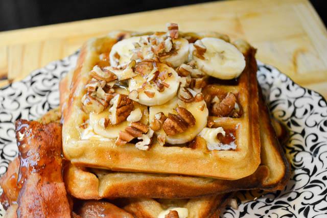 Brown Butter Banana Waffles-2