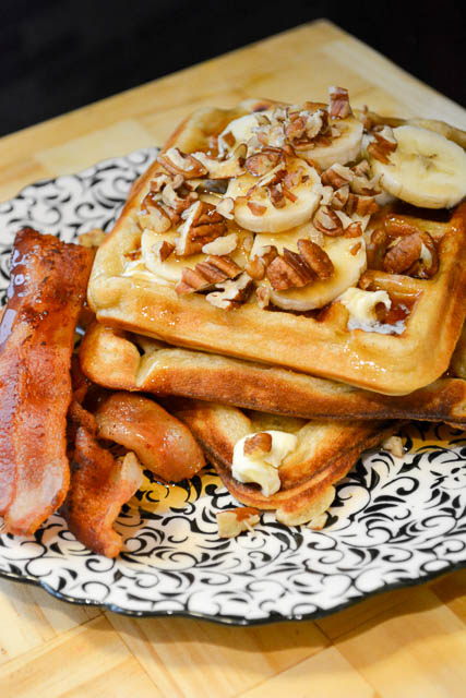 Brown Butter Banana Waffles-5
