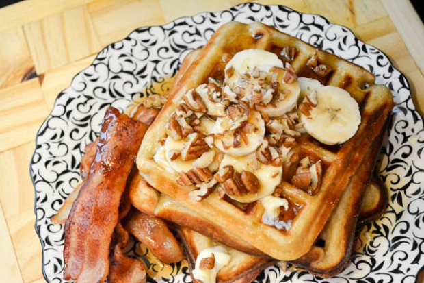 Brown Butter Banana Waffles-6