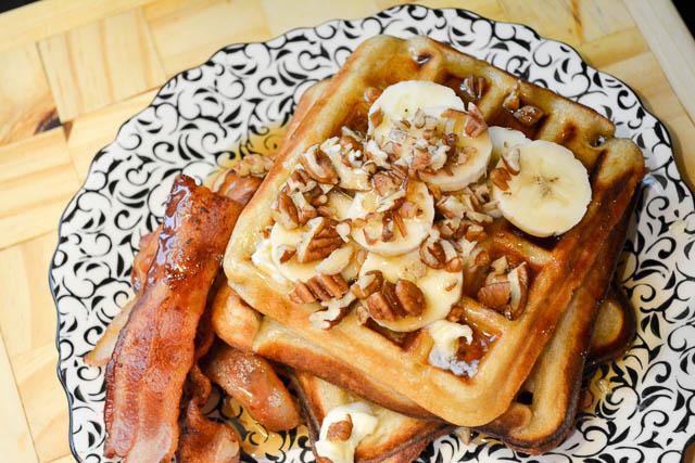 Brown Butter Banana Waffles-6