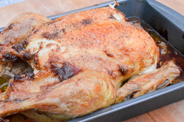 Mayo Crusted Roasted Chicken-3