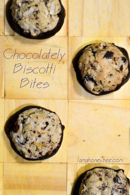 Chocolately Biscotti Bites