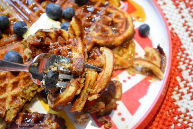 Gluten Free Banana Bread Waffles-2