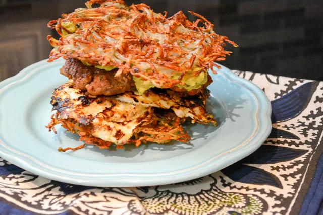 Paleo Waffled Breakfast Sandwich-1