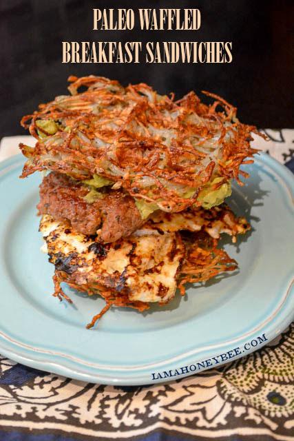 Paleo Waffled Breakfast Sandwich