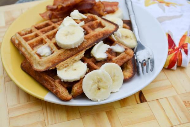 Banana Buttermilk Waffles-3