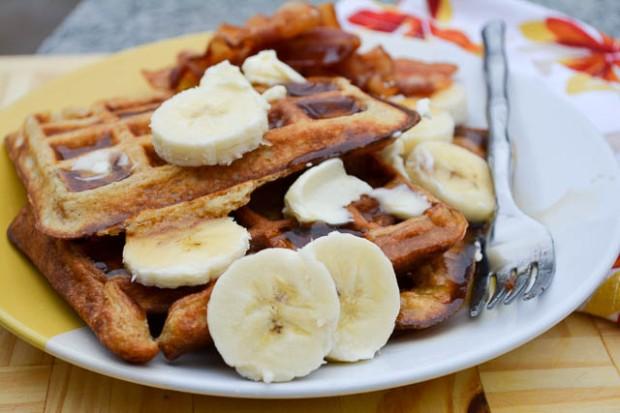 Banana Buttermilk Waffles-5