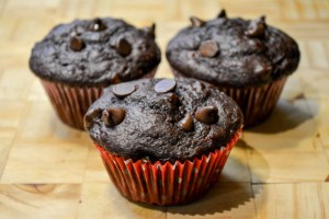 Double Chocolate Banana Muffins-1