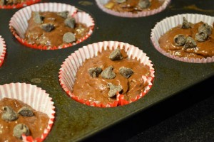 Double Chocolate Banana Muffins-12