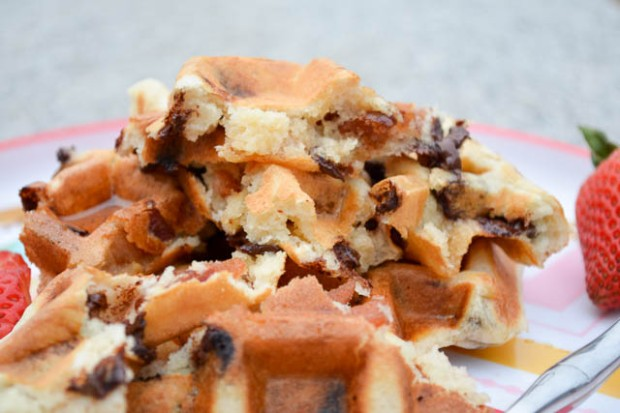 Bacon Chocolate Chip Waffles-1