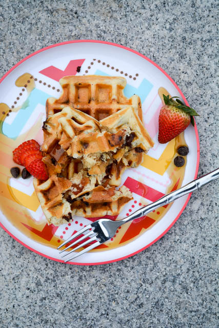 Bacon Chocolate Chip Waffles-2