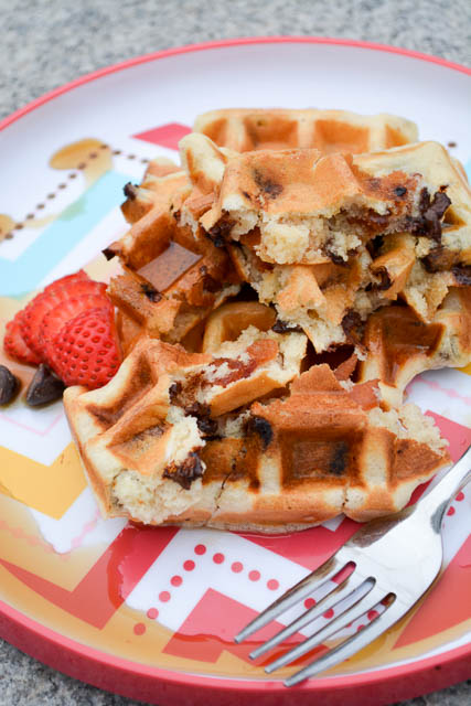 Bacon Chocolate Chip Waffles-3