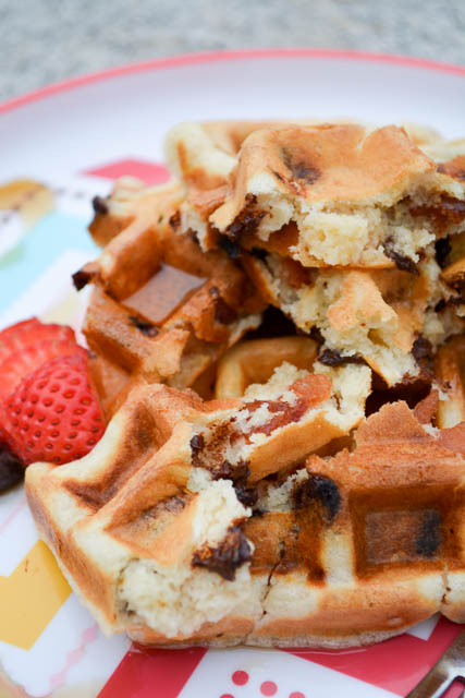 Bacon Chocolate Chip Waffles-5