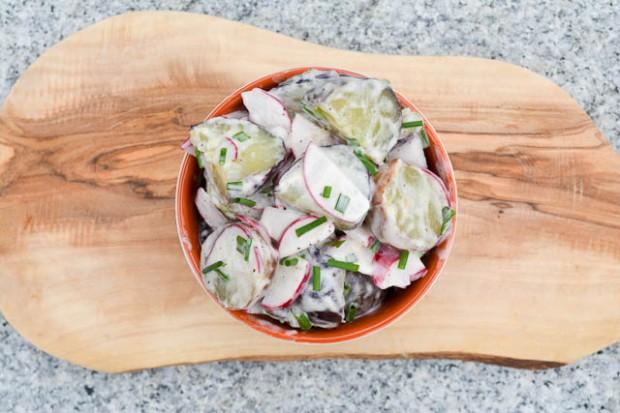 New Potato & Radish Salad w Truffle Oil Dressing-1